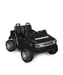 Kids Battery Powered Ride on Toy 2 Seats Seater Black Hummer SUV Car 12V