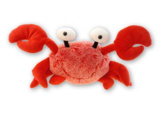 "Red Crab Super Soft Plush Toy 16"" Stuffed Animal"