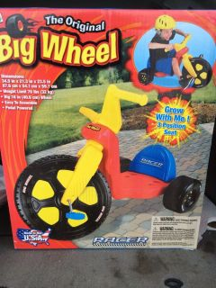 The Original Big Wheel Boy Racer Tricycle Kids Bike Trike Riding Toy Pedal Power