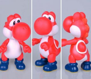 "Super Mario Bros Brother Yoshi Red PVC 5"" Action Figure Toy Loose Kids Gift"
