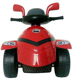 New Star Reverse Trike 6 Volt Battery Powered Kids Ride on Motorcycle Red
