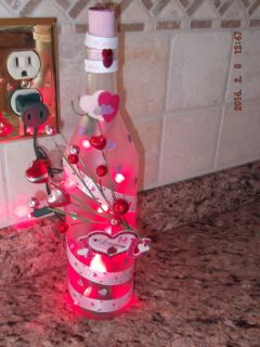 Valentine Day Gift Present LED Lighted Wine Bottle for Her or Him I Love You