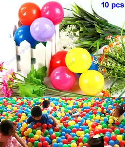 10 Pcs Colorful Ball Fun Ball Soft Plastic Ocean Ball Baby Kid Toy Swim Pit Toy
