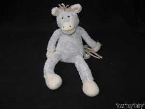 "12"" Pbk Pottery Barn Kids Grey Critter Sitter Donkey Horse Plush Stuffed Toy"