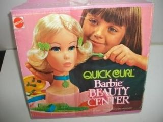 Vintage 1973 Barbie Quick Curl Beauty Center Style Head