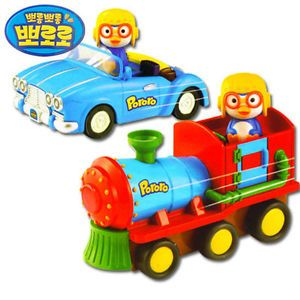 Hyundai Hmall Korea Pororo Children Kid Push Go Car Train Toy No Battery