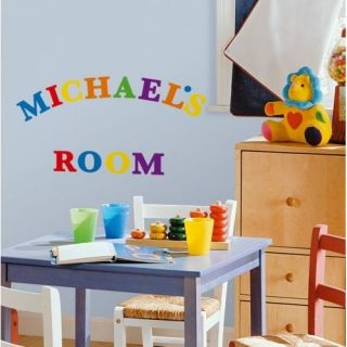 73 Primary Colours Alphabet Letters Removable Wall Decals Stickers Appliques