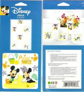 Decorative Wall Tile Stickers Mickey Minnie Sandcastle
