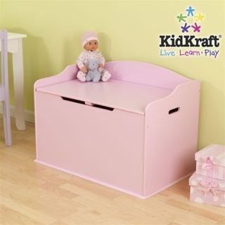 KidKraft Girls Kids Pink Wood Storage Chest Toy Box New