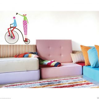 Circus Theme Wall Decal Stickers Bedroom Kids Child Girl Boy Clown Baby Infant