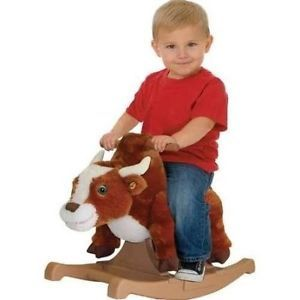 Child Rodeo Bull Rider Talk and Sing Toy Rocking Horse Ride Rocker Children New