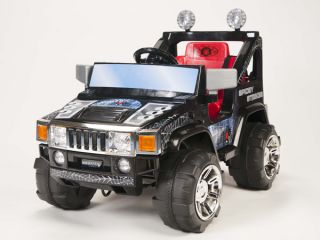 12V RC Battery Power Kids Ride on Hummer Jeep Car w Big Wheels R C Remote