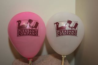 American Girl Pink and White Birthday Party Balloons RARE