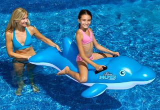 New Swimline 90453 Swimming Pool Inflatable Dolphin Stable Ride on Float Toy