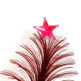 Colorful Christmas Tree Shaped Fiber Optic Light Red Base
