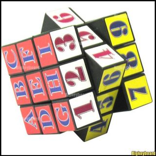 6 Colors Number Puzzle Game Brain Teaser Magic Cube Toy