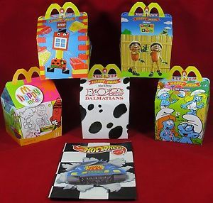 5X Birthday Party Bag Kids Meal Lunch Box Favours McDonalds Happy Meal Box
