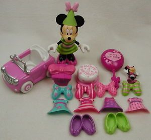 Minnie Mouse Birthday Surprise Figure Outfits Dress Mickey Clubhouse Cake Shoes