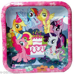 8 My Little Pony Friendship Is Magic Large Plates Birthday Party Supplies