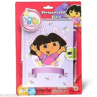 Dora The Explorer Personalized Diary Birthday Party Supplies Favor Gift