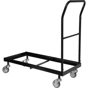 Chair Cart Dolly Storage Rolling Transport Rack Folding Plastic Metal Chair
