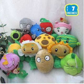 Lot 14 of Plants vs Zombies Soft Plush 7'' Kids Fun Toy Collection Gift Cool New