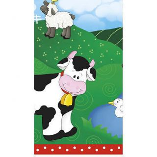Farm Friend Animals Barn Birthday Party Supplies Plastic Tablecover