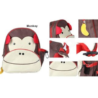 Kids Boys Girl's Cartoon Backpack Animal Monkey Shoulder Bag Book School Bags