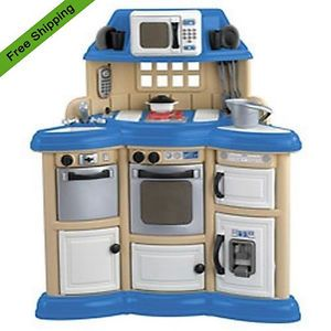 Kids American Plastic Toys Children Kitchen Play Set Cooking Playtime Play Sets