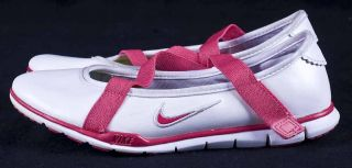 Nike Mary Jane Pink White Girls Shoes 2 5 Y