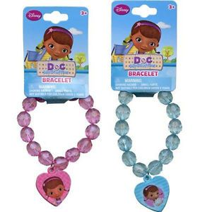 2 Disney Doc McStuffins Bracelets with Charm Birthday Party Favors Supplies