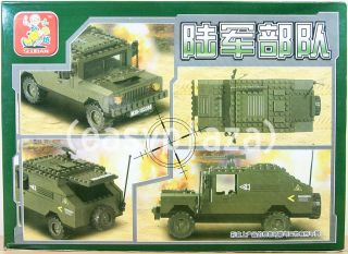 Hummer Army Truck 191pcs Building Blocks Bricks Set B9900 New Sluban Toy 1