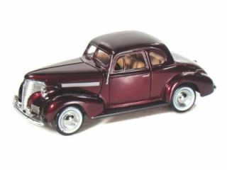 "Motormax 1939 Chevrolet Coupe Diecast Car 1 24 G Scale 7 3 4"" Length M"