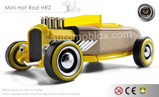 Automoblox Mini Car Hot Rod HR2 Kids Wooden Model Toys Birch Minis Newest Models