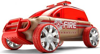Automoblox x9 Fire SUV Full Sized Car Kids Wooden Building Block Toy 985019 New