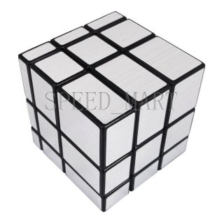 Shengshou Mirror 3x3x3 Sliver Cube Speed Twist Magic Bump Puzzle Toys Smooth