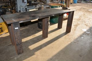 Large Heavy Duty Reinforced Welding Table 29x96 36 5 High Inv 12051