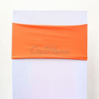 Orange Spandex Lycra Stretch Chair Cover Bands Replace Chair Sash Wedding Decor
