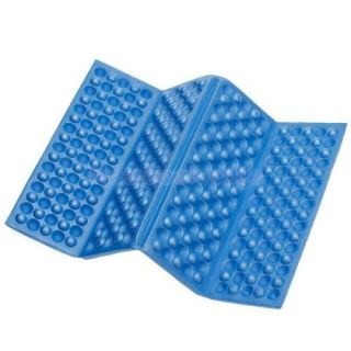 Foldable Folding Foam Seat Cuchion Chair Pad Park Picnic Graden Camping Blue
