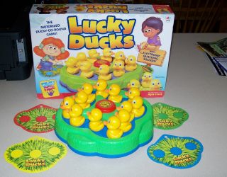 Milton Bradley Lucky Ducks 3 6 Kids Toy Game Pre School Matching Shapes Colors