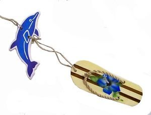3D Air Freshener Dolphin Flip Flop Auto Car Lockers Home Tropical Fruit Scent