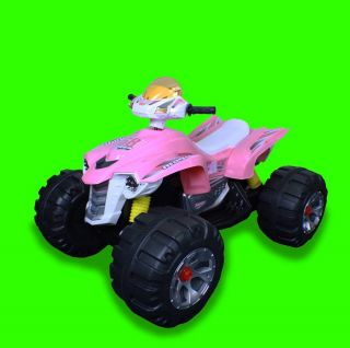 Brand New 12V Battery Powered Electric Kids Ride on Toy ATV Car 4 Wheel Pink