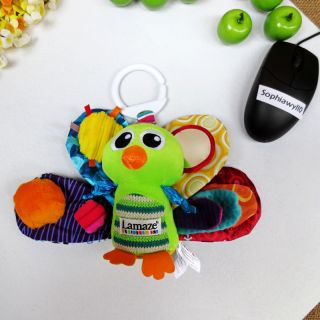 Infant Baby Kids Lamaze Peacock Rattle Crinkle Mirror Squeaky Plush Doll Toy 0M
