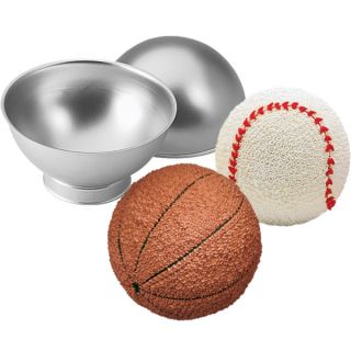 Wilton Sports Ball 3D Tennis Cricket Golf Birthday Cake Pan Tin Mold Mould