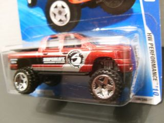 "2010 Hot Wheels ""Superlift"" Red Dodge RAM 1500 10 10 108 240 NIP"