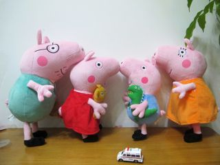 2013 Brand New Very Large Ty Peppa Pig Family Soft Plush Toy 15 inches 38cm BNWT