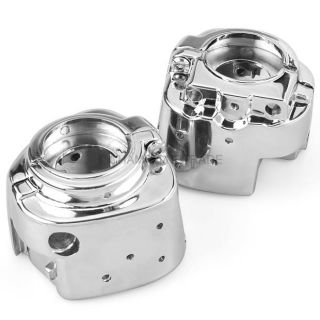 Chrome Silver Switch Housings Cover for Harley Davidson Softail Sportsters 96 06