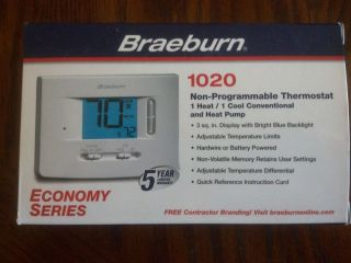 Braeburn Air Conditioning Heating Electronic Thermostat
