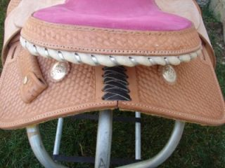 "12"" Lt Pink Kid Western Trail Barrel R Saddle Circle S"