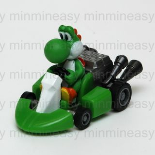 Nintendo Super Mario Bros Yoshi Mini Pull Back Racers Racing Kart Car Toy Figure